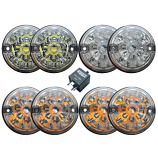Full Set Of Replacement Lights - Clear - LED