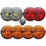 Full Set Of Replacement Lights - Coloured - LED