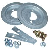 Rear Spring Seat Fitting Kit - Galvanised - Defender 90, Discovery 1 & Range Rover Classic