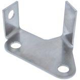 Brake Pipe Swivel Mount Bracket - Front - LH Side - Stainless - Defender (To WA159806)