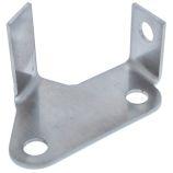 Brake Pipe Swivel Mount Bracket - Front - RH Side - Stainless - Defender (To WA159806)