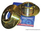 Rear Brake Discs - Solid - Britpart Performance