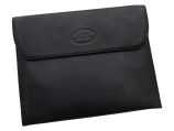 iPad Carry Case - Black Leather